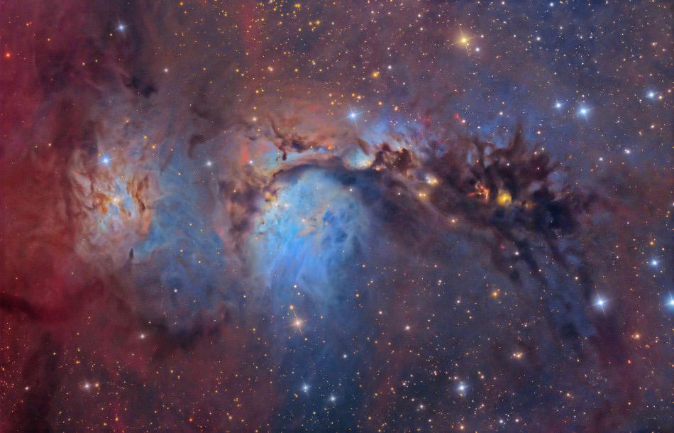 M 78: polvo y luz estelares